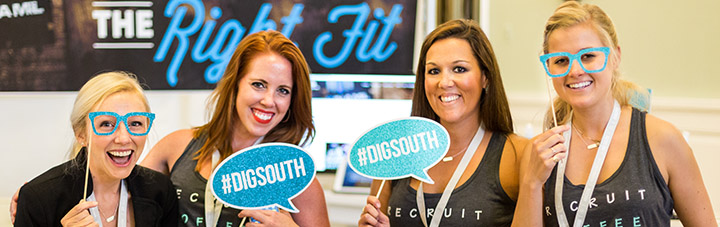 Women having fun at DIG SOUTH